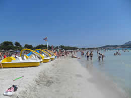 Beautiful Beaches In Alcudia Playpark Puerto Beach