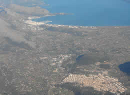 pollensa and port aerial view