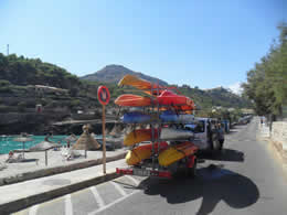 Guide to Cala San Vicente - Tourist and Travel Information, Hotels, Windsurfers at Cala Molins
