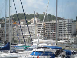 Palma Marina with Bellver Castle in background