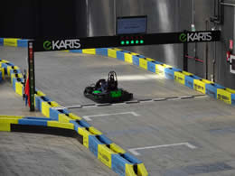 ekarts at the starting line